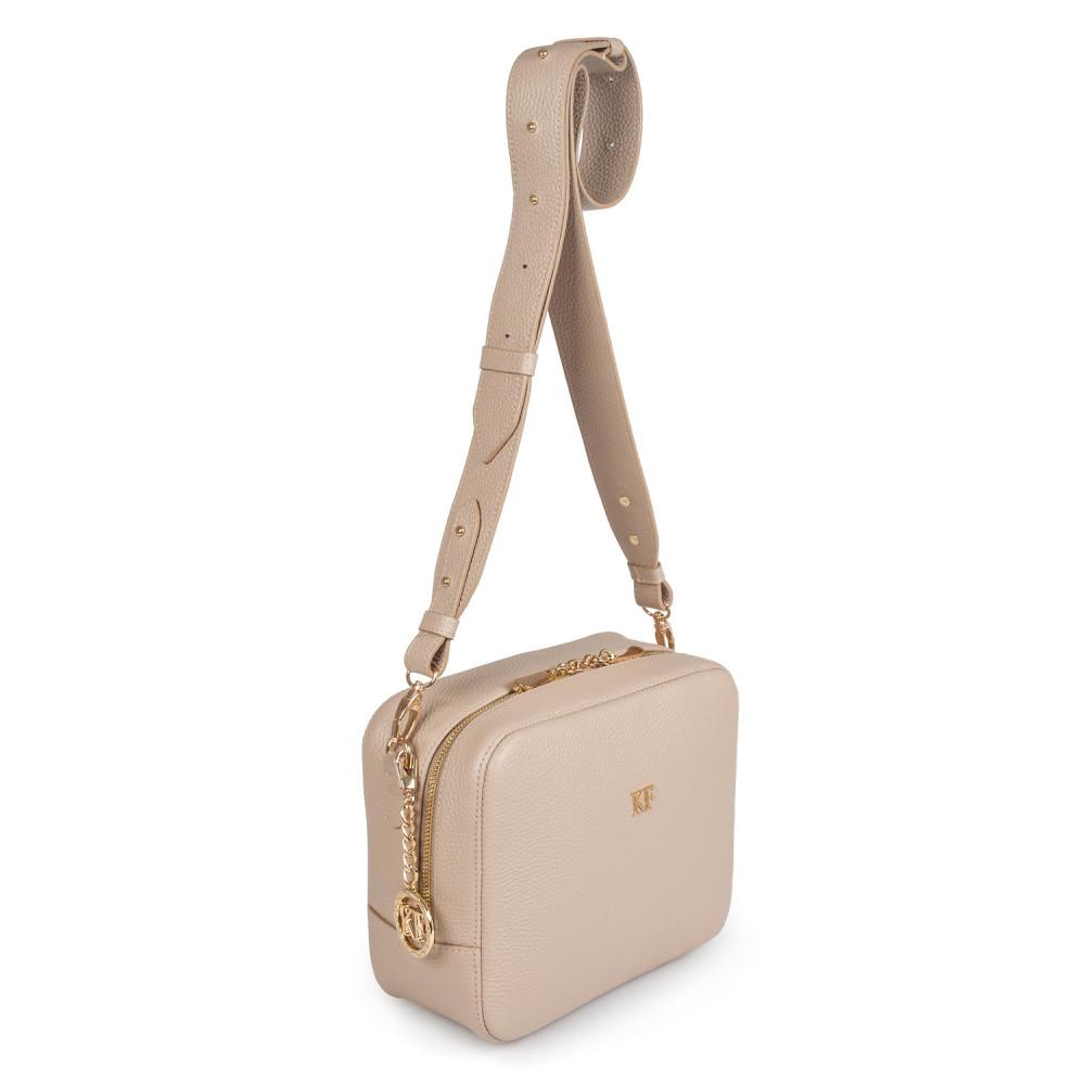 Жіноча шкіряна сумка кросс-боді на широкому ремені Tatiana M KF-2846