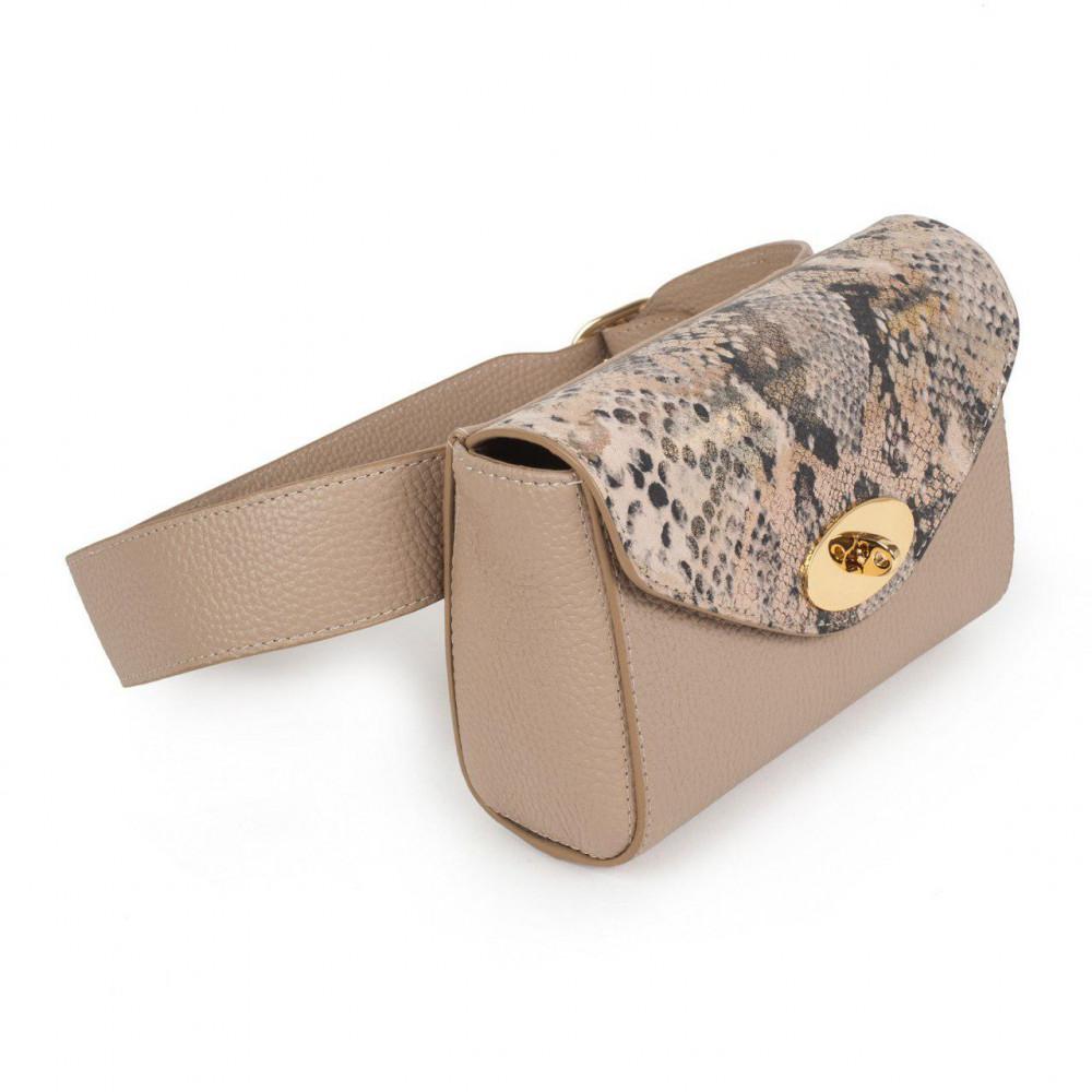 Жіноча шкіряна сумка на пояс Julia KF-2851
