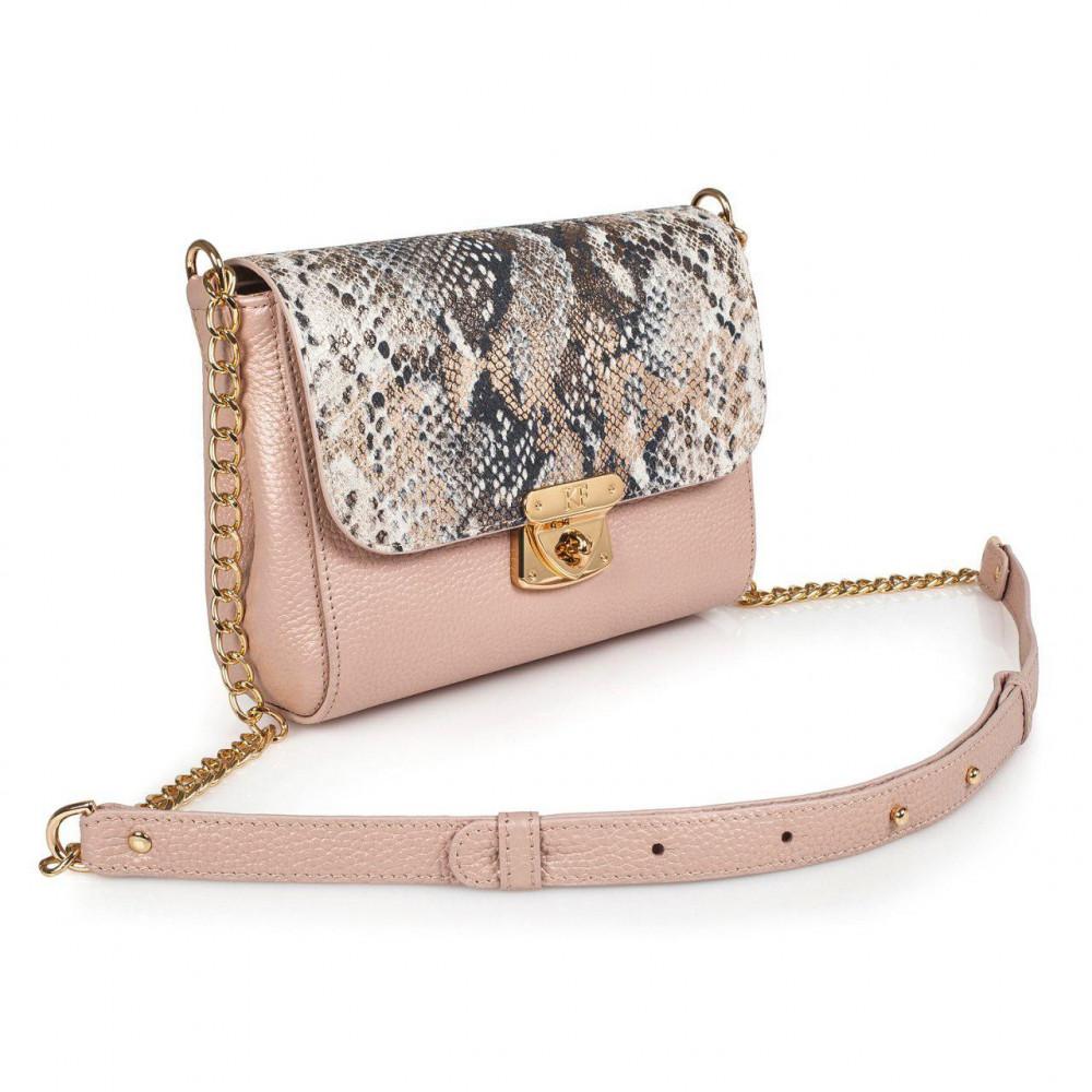 Жіноча шкіряна сумка на ланцюжку Prima S KF-2867-1