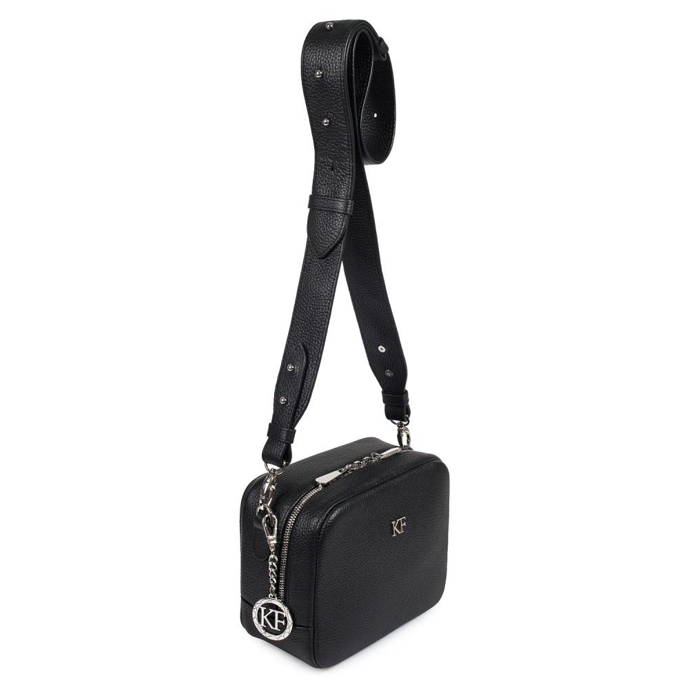 Жіноча шкіряна сумка кросс-боді на широкому ремені Tatiana KF-2935