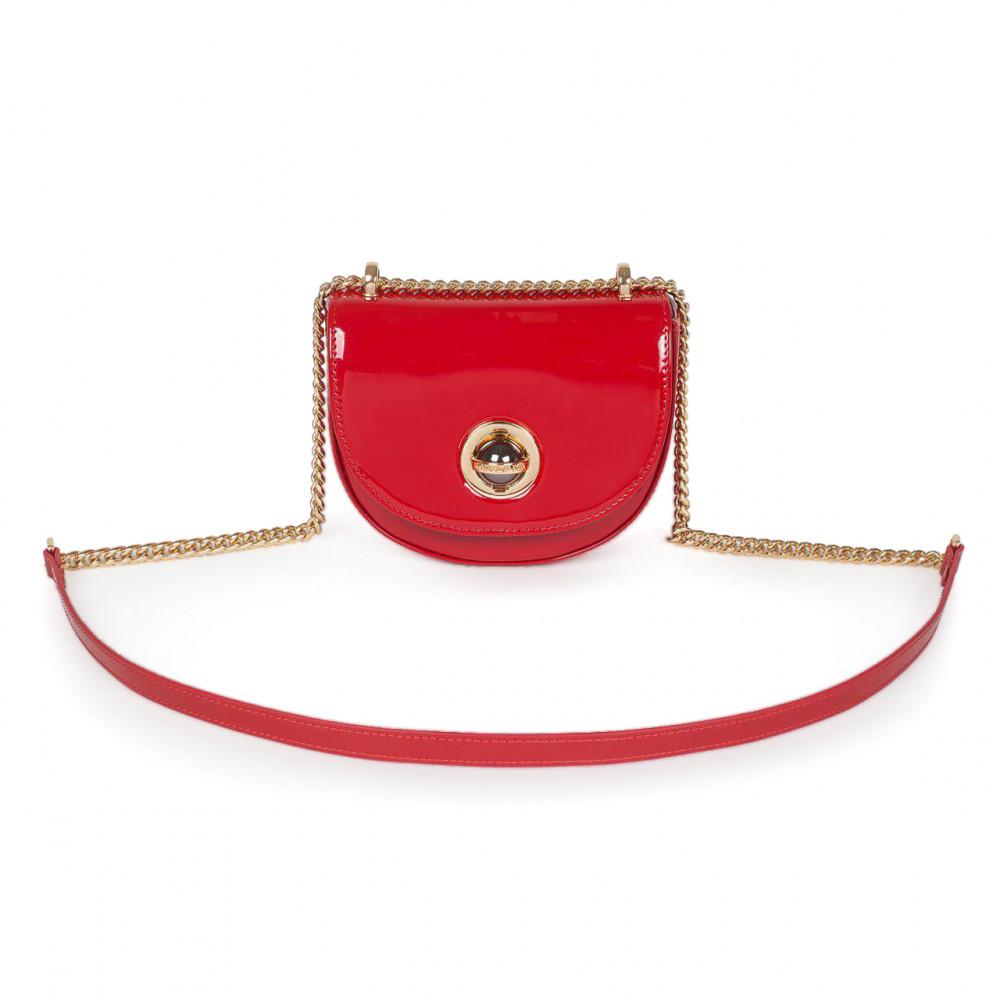 Жіноча шкіряна сумка на ланцюжку Milena KF-2939-