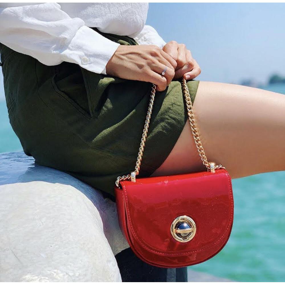 Жіноча шкіряна сумка на ланцюжку Milena KF-2939-5