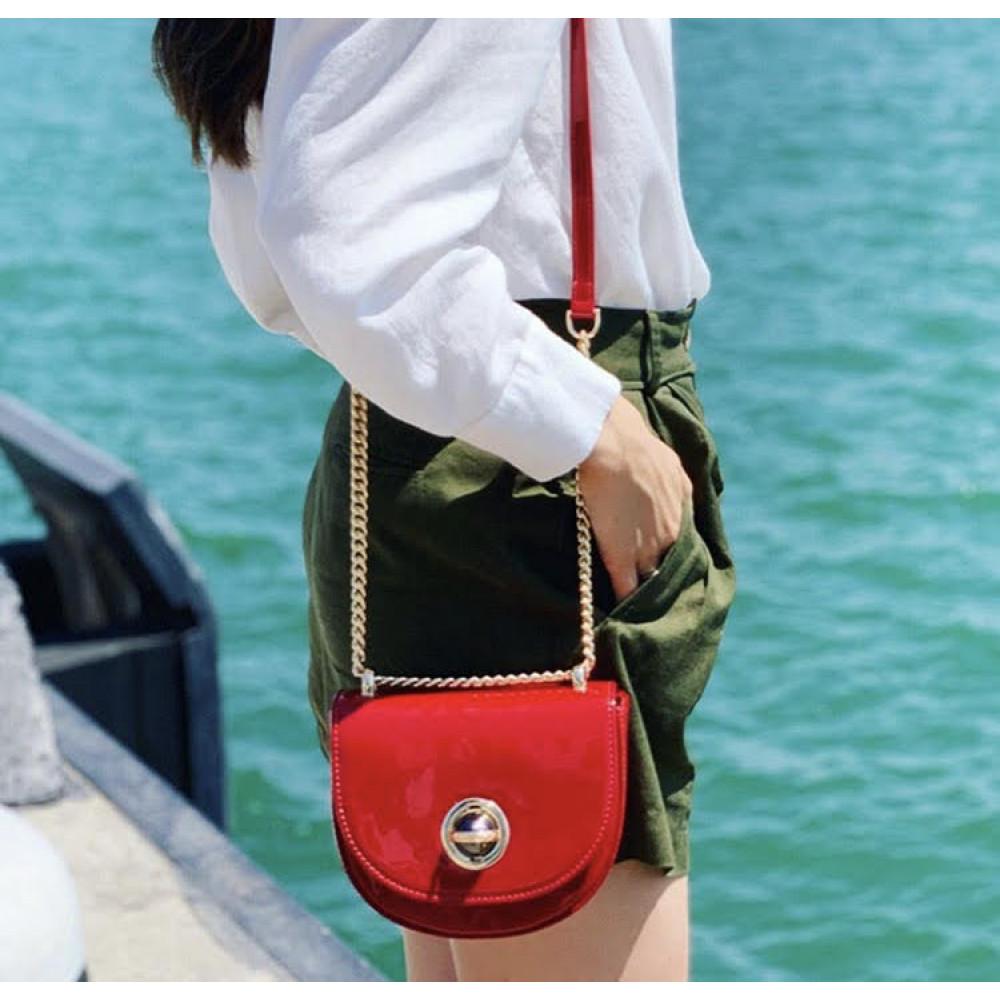 Жіноча шкіряна сумка на ланцюжку Milena KF-2939-6