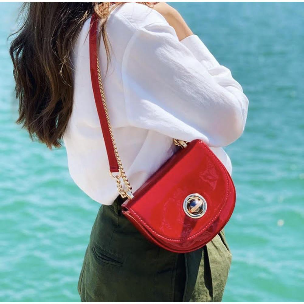 Жіноча шкіряна сумка на ланцюжку Milena KF-2939-7