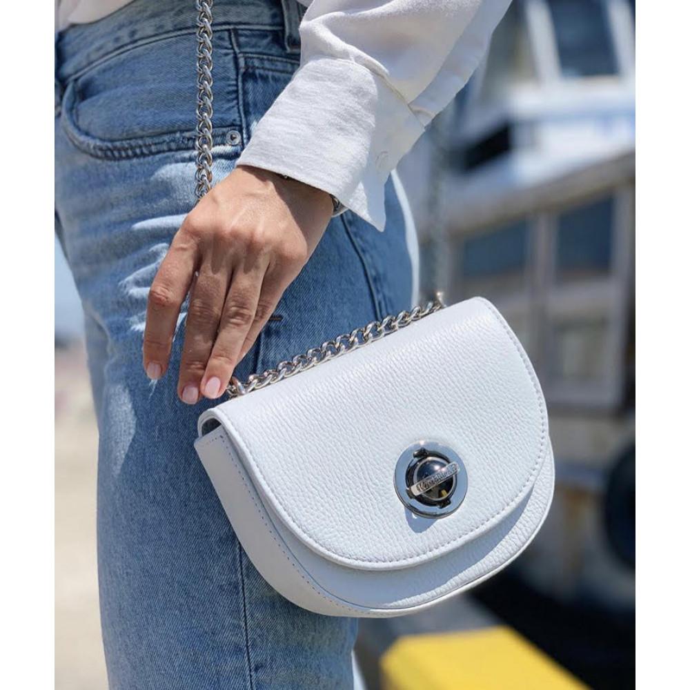 Жіноча шкіряна сумка на ланцюжку Milena KF-2959