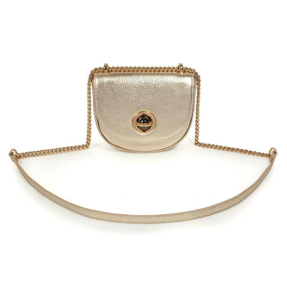 Жіноча шкіряна сумка на ланцюжку Milena KF-2976