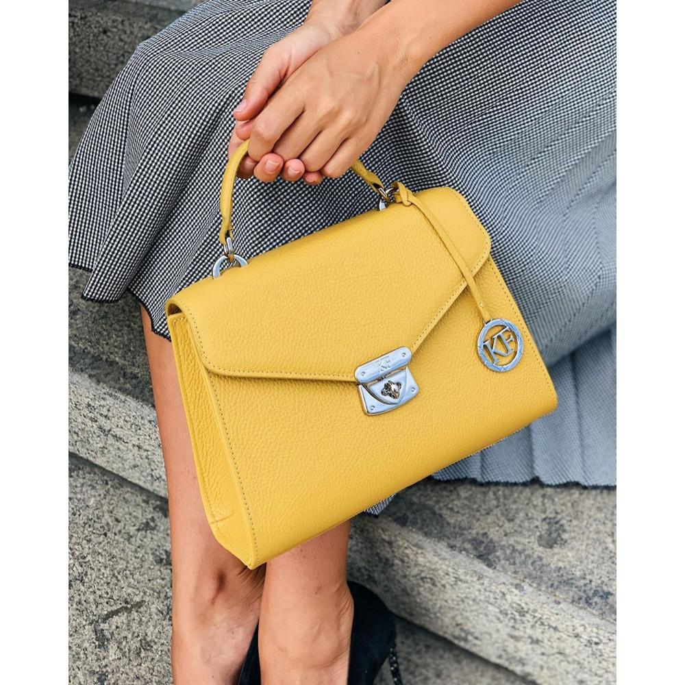 Women's leather briefcase Anita KF-2993
