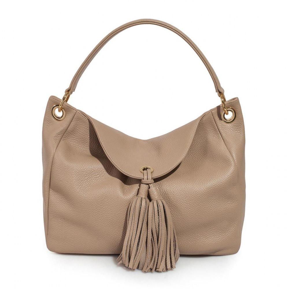 Жіноча шкіряна сумка-мішок Хобо Lora KF-3001