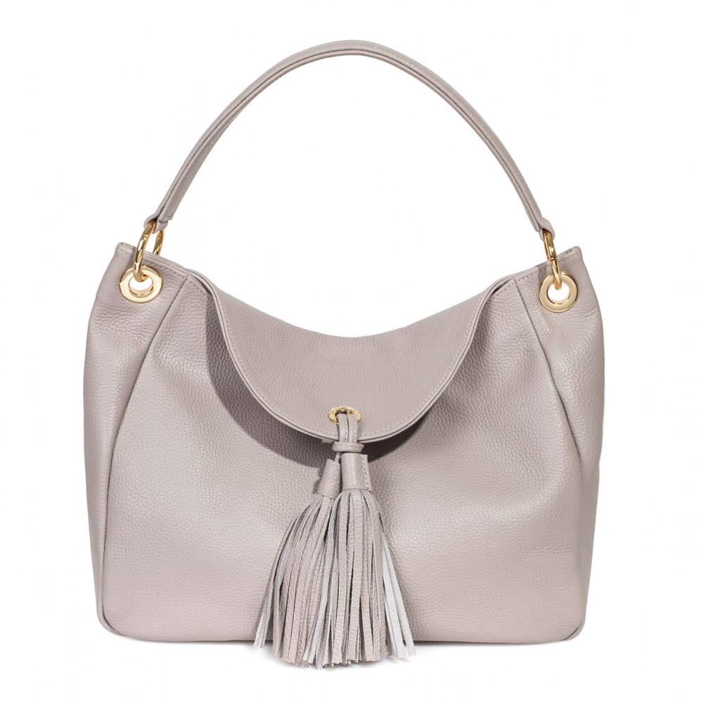 Жіноча шкіряна сумка-мішок Хобо Lora KF-3003