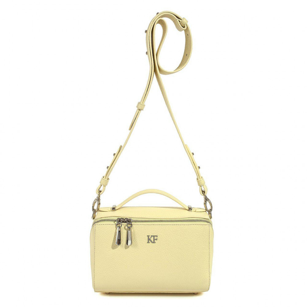 Women's leather crossbody bag on a wide strap on a wide strap Kira KF-3041-