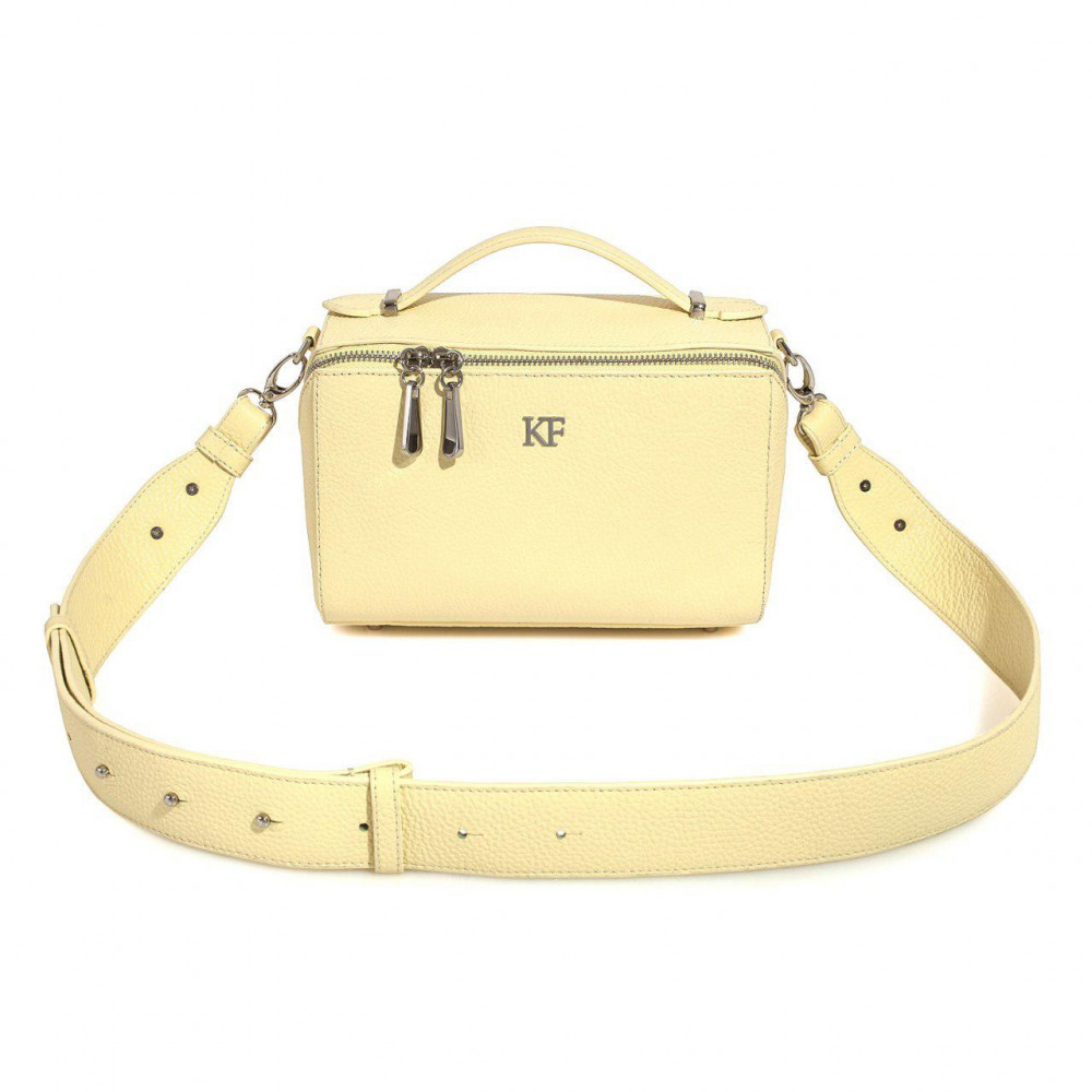 Women's leather crossbody bag on a wide strap on a wide strap Kira KF-3041-1