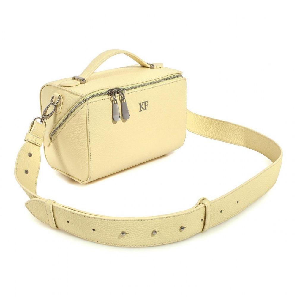 Жіноча шкіряна сумка кросс-боді на широкому ремені Kira KF-3041-2