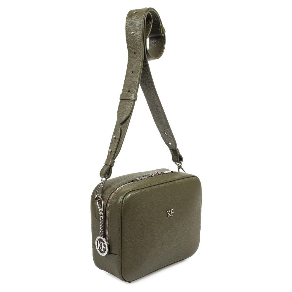 Жіноча шкіряна сумка кросс-боді на широкому ремені Tatiana M KF-3060