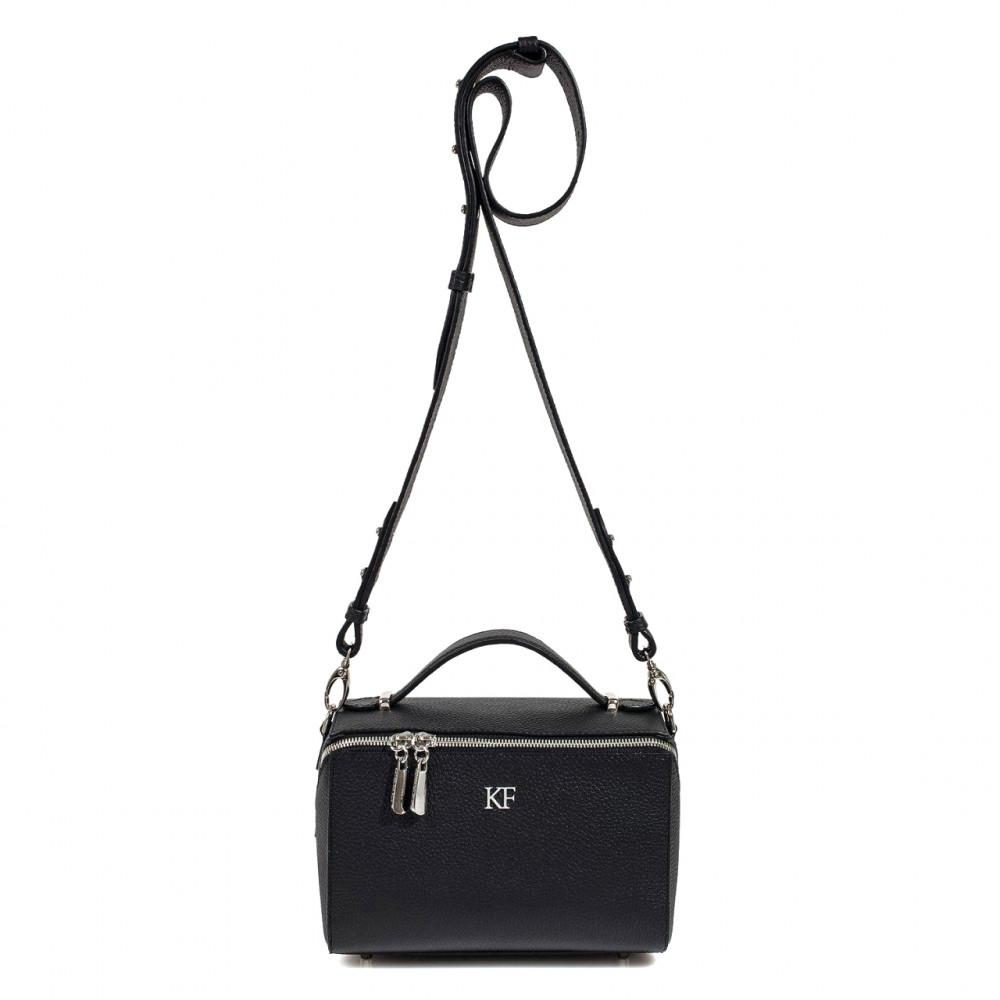 Жіноча шкіряна сумка кросс-боді на широкому ремені Kira KF-3070