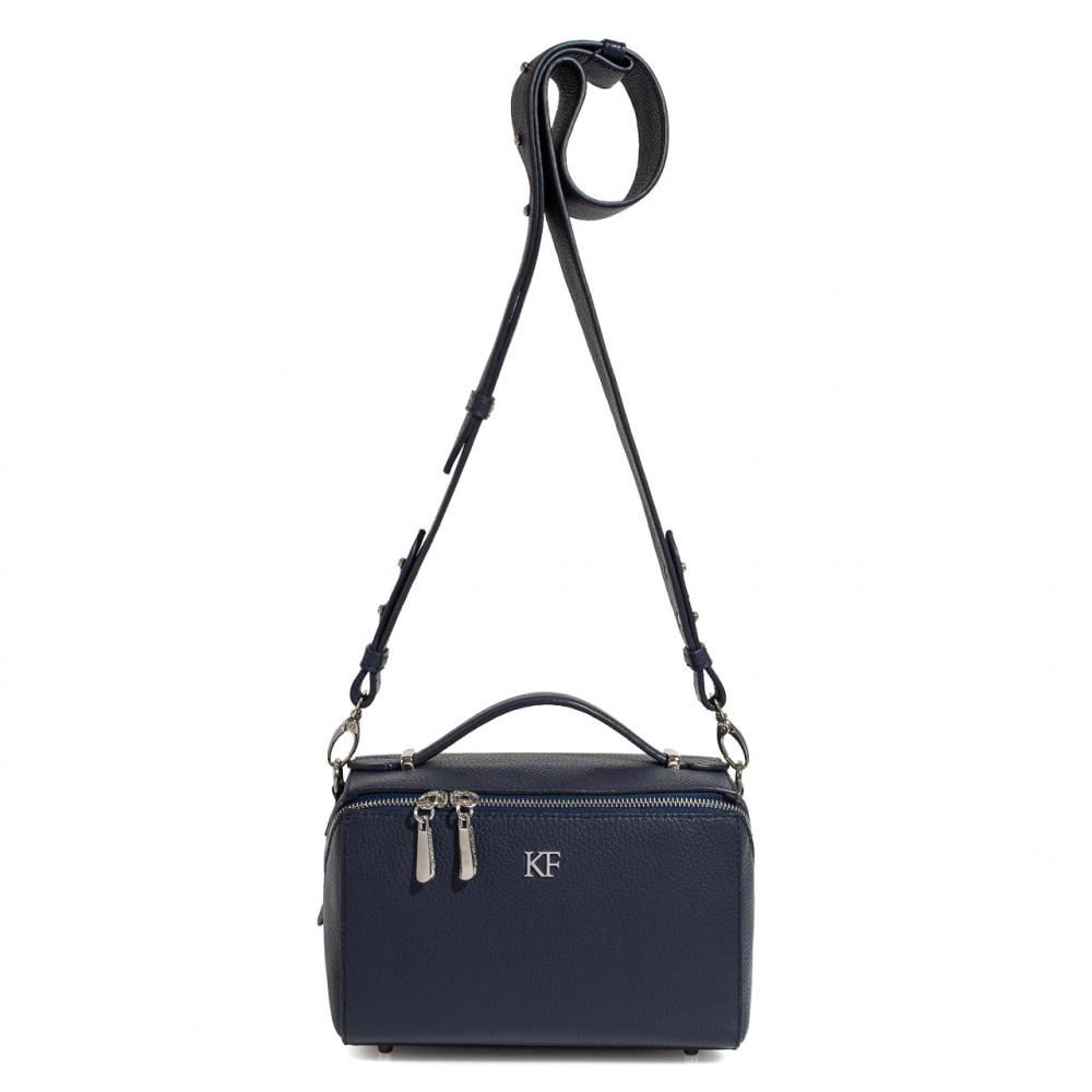 Жіноча шкіряна сумка кросс-боді на широкому ремені Kira KF-3074