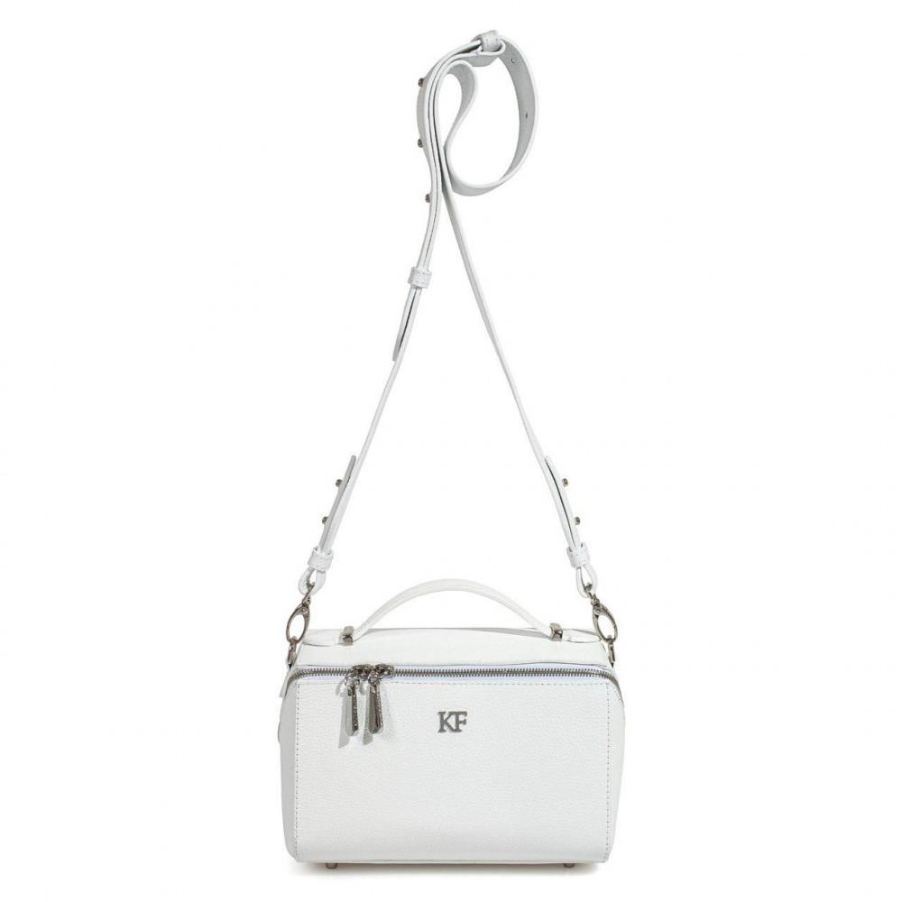 Жіноча шкіряна сумка кросс-боді на широкому ремені Kira KF-3075