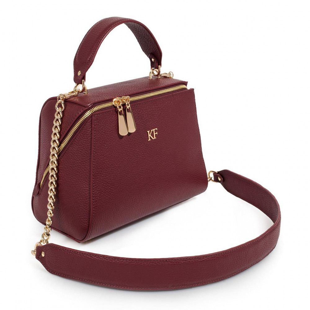 Жіноча шкіряна сумка Elegance KF-3086-1