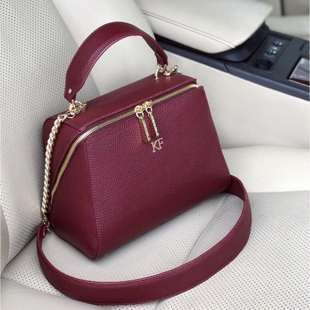 Жіноча шкіряна сумка Elegance KF-3086-6