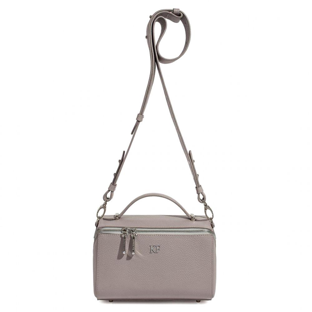 Жіноча шкіряна сумка кросс-боді на широкому ремені Kira KF-3088