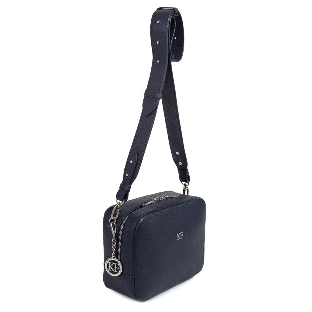Жіноча шкіряна сумка кросс-боді на широкому ремені Tatiana M KF-3096