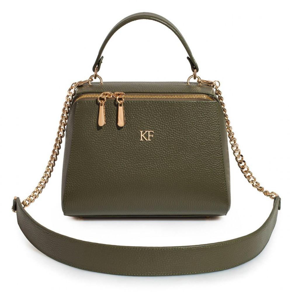 Жіноча шкіряна сумка  Elegance KF-3161