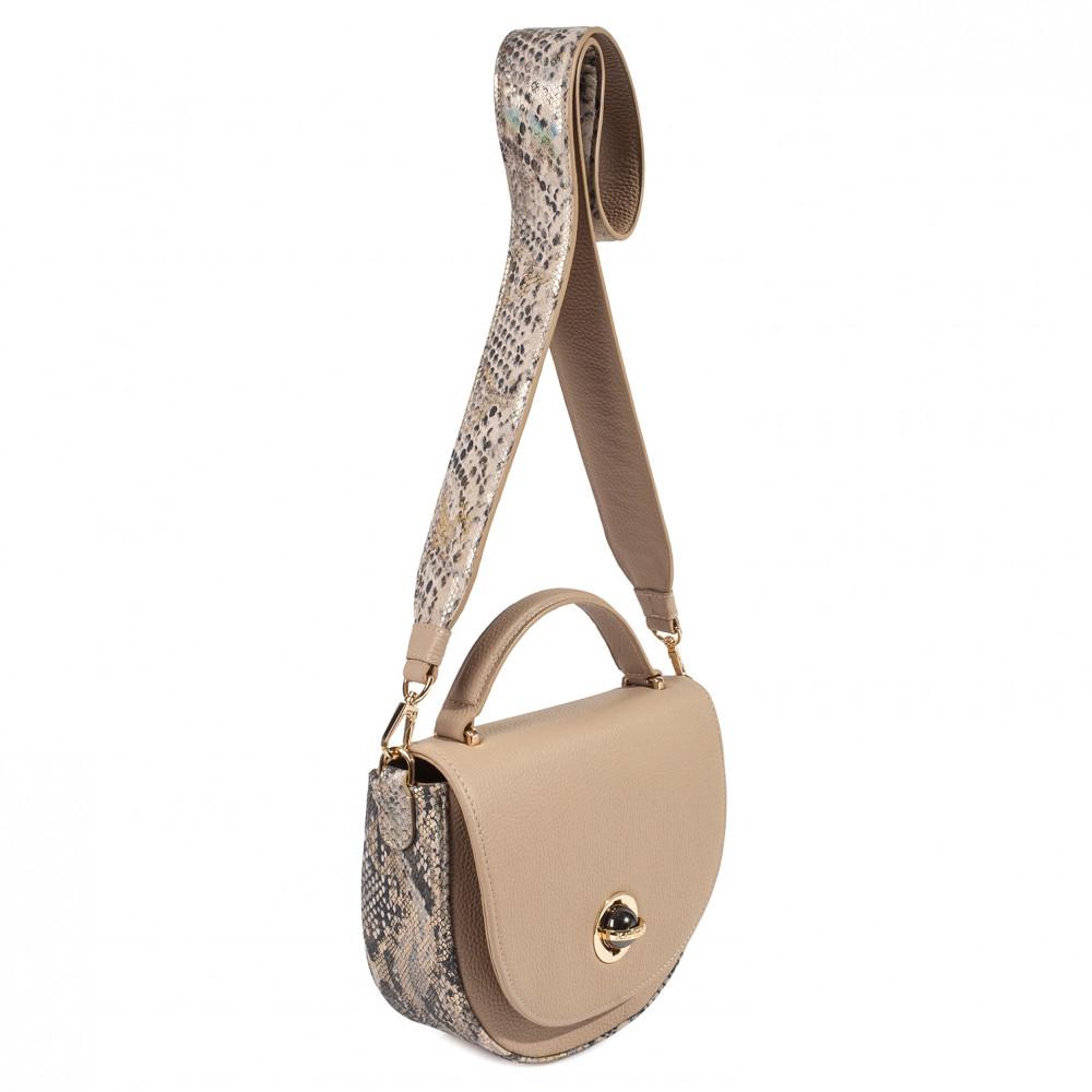 Жіноча шкіряна сумка кросс-боді на широкому ремені Lena KF-3171