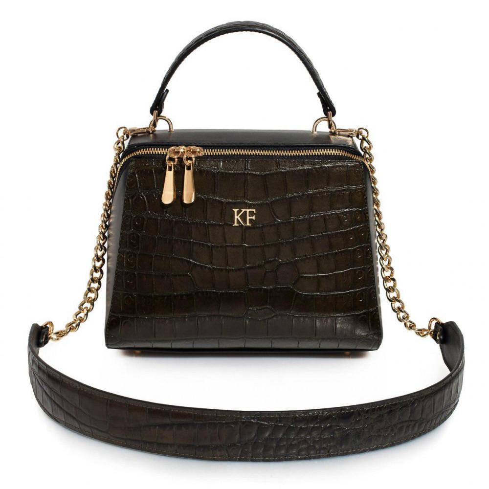 Жіноча шкіряна сумка Elegance KF-3194
