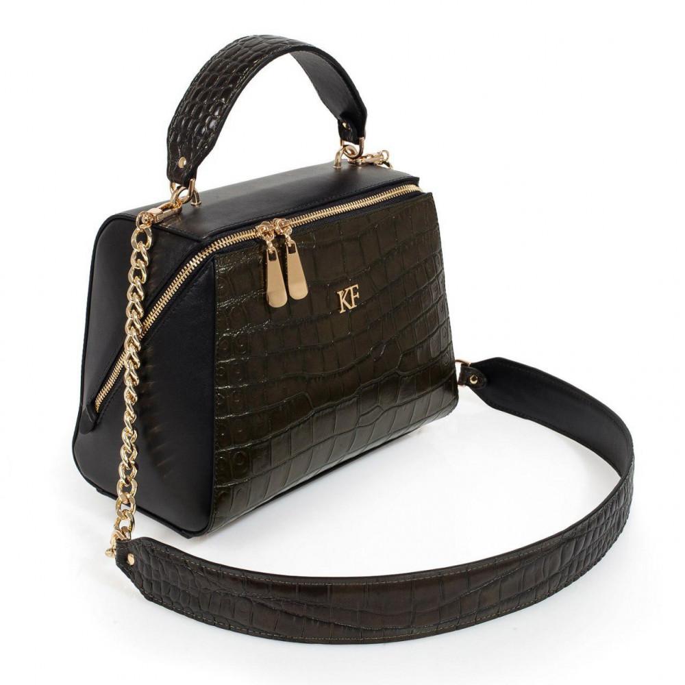 Жіноча шкіряна сумка Elegance KF-3194-1