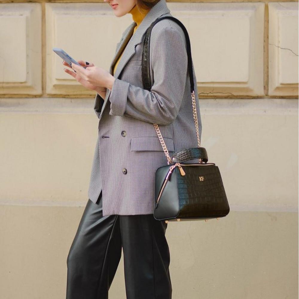 Жіноча шкіряна сумка Elegance KF-3194-7