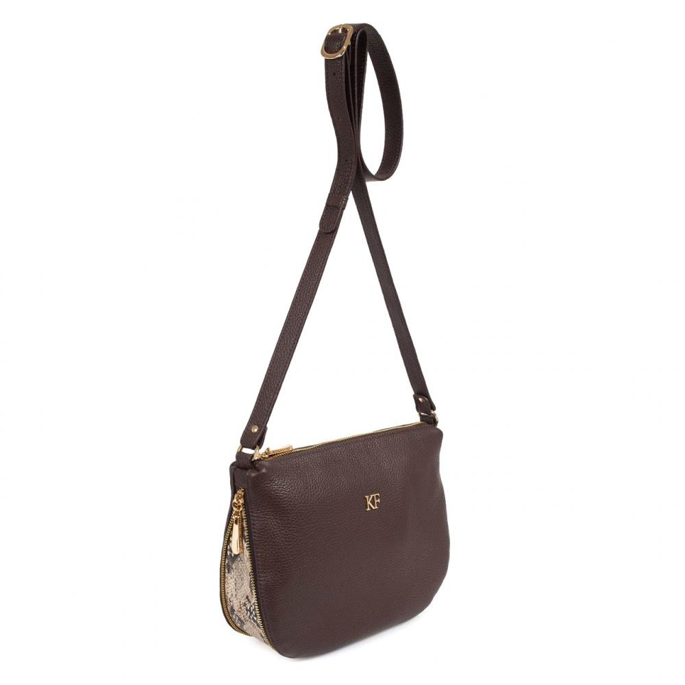 Жіноча шкіряна сумка кросс-боді Mia KF-3201