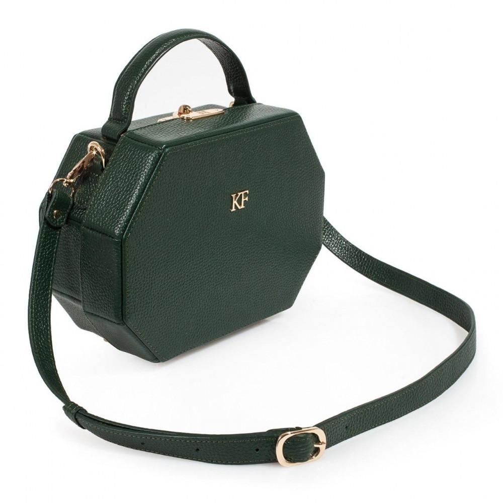 Жіноча шкіряна сумка-шкатулка Alexa KF-3202