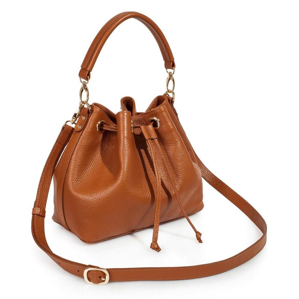 Жіноча шкіряна сумка-мішок Хобо Sonya KF-3224-1