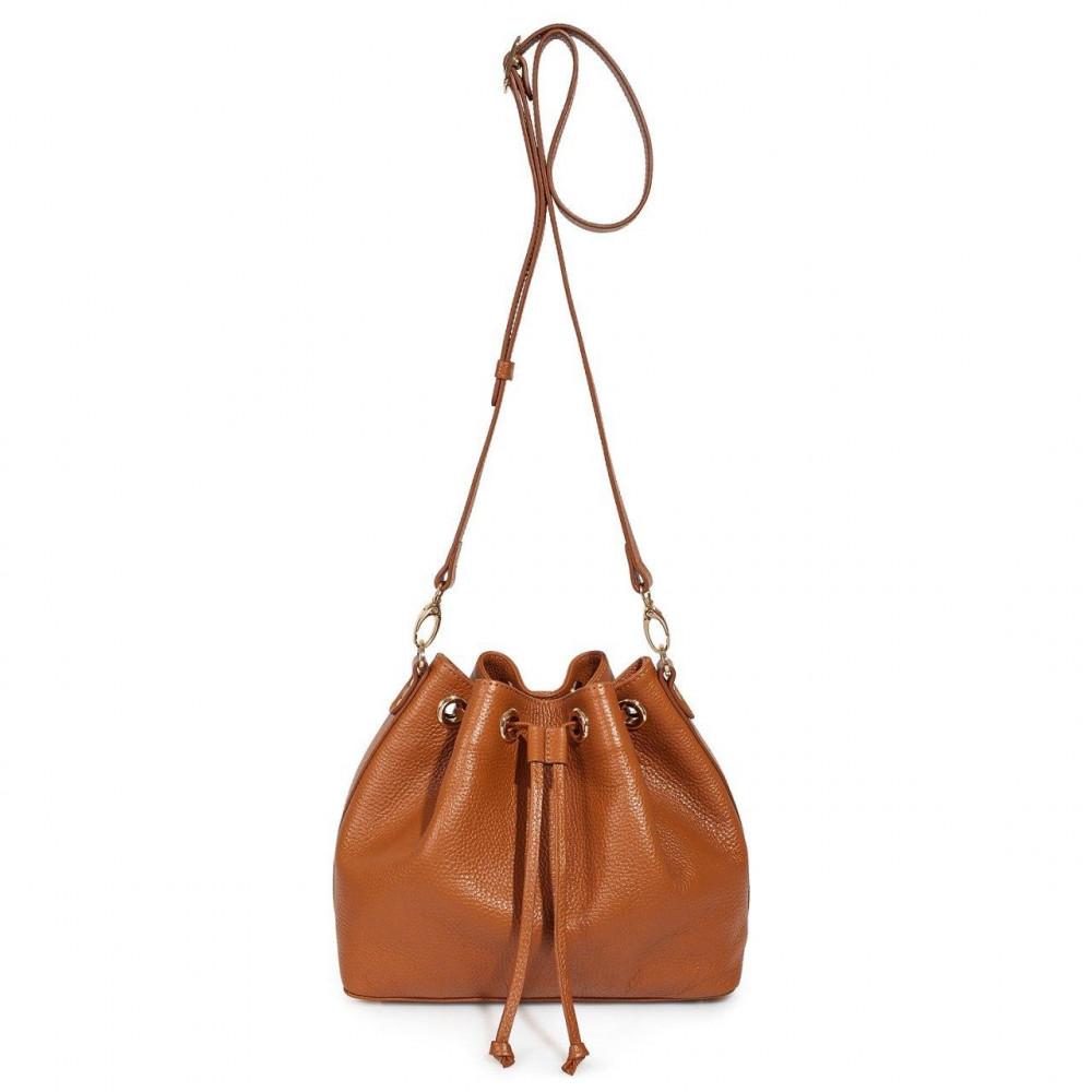 Жіноча шкіряна сумка-мішок Хобо Sonya KF-3224-2