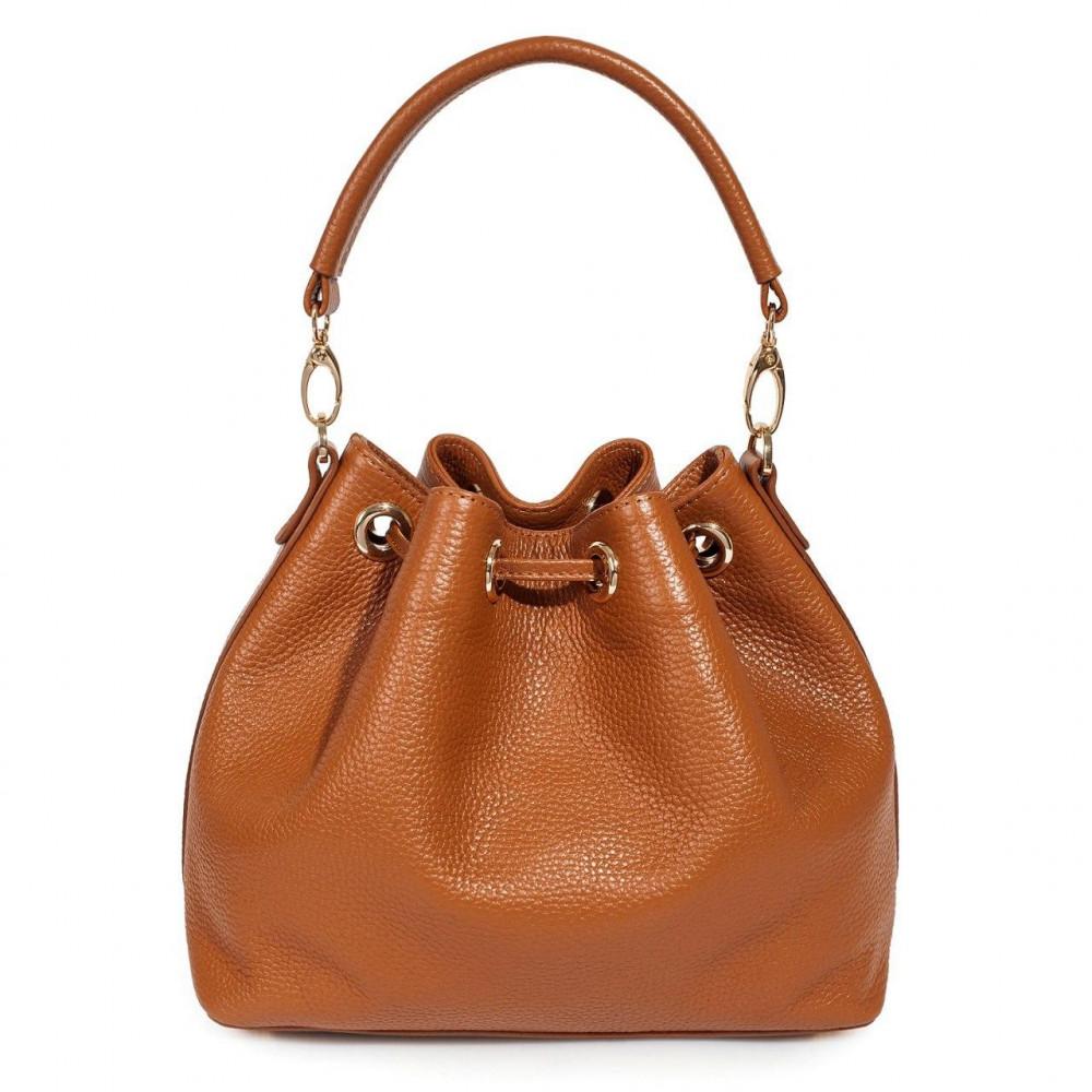 Жіноча шкіряна сумка-мішок Хобо Sonya KF-3224-3