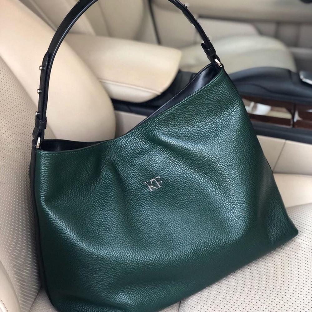 Жіноча шкіряна сумка-мішок Хобо Nata KF-3292-5