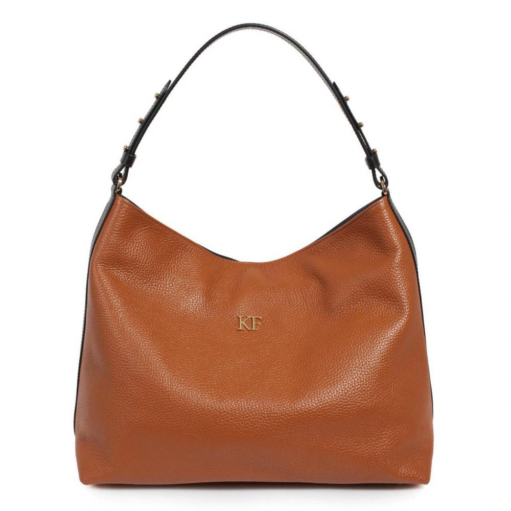 Жіноча шкіряна сумка-мішок Хобо Nata KF-3293-