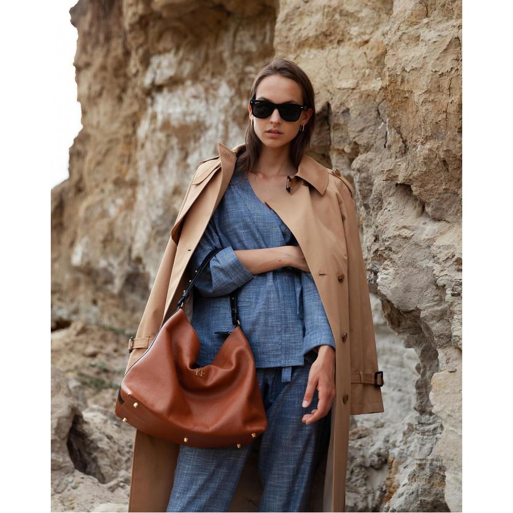 Жіноча шкіряна сумка-мішок Хобо Nata KF-3293-7