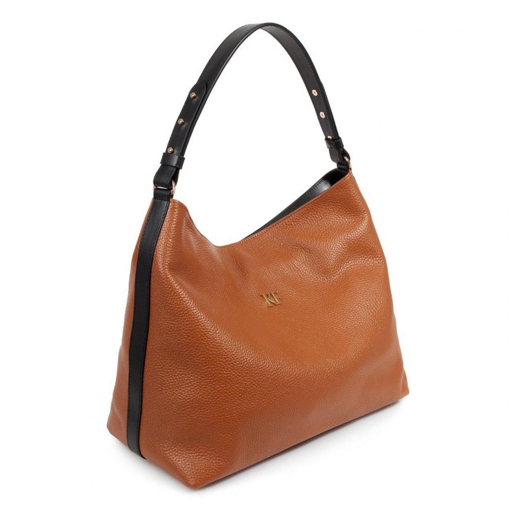 Жіноча шкіряна сумка-мішок Хобо Nata KF-3293-1