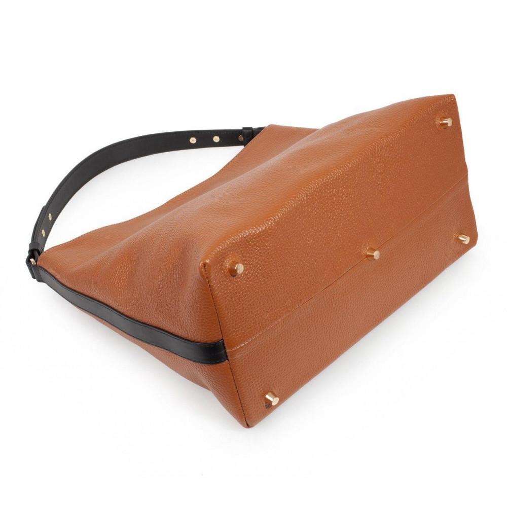 Жіноча шкіряна сумка-мішок Хобо Nata KF-3293-4