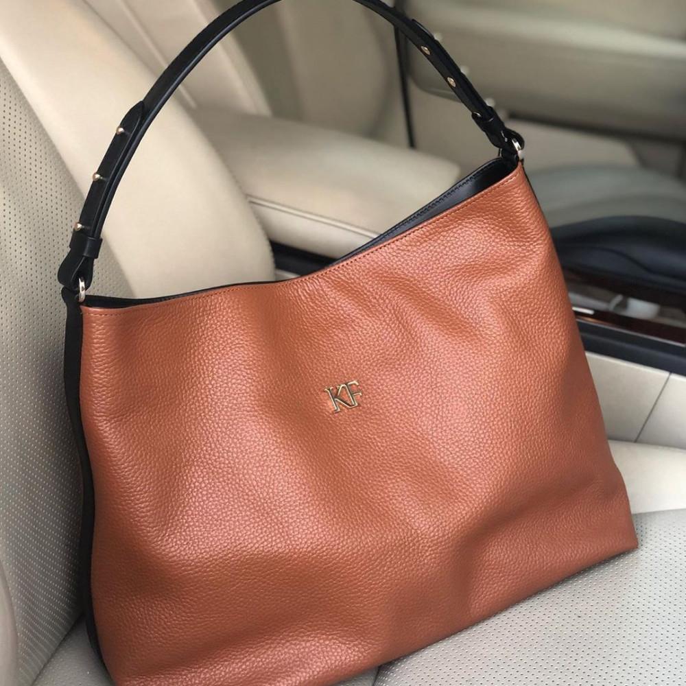 Жіноча шкіряна сумка-мішок Хобо Nata KF-3293-5