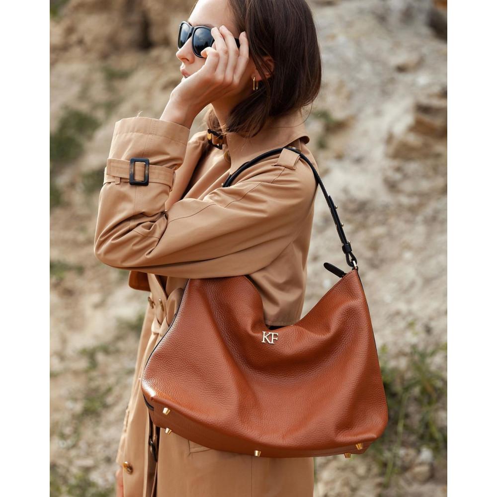 Жіноча шкіряна сумка-мішок Хобо Nata KF-3293-6