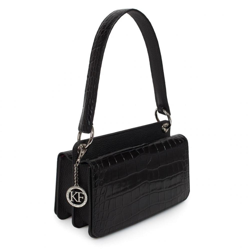 Women's leather bag Baguette KF-3307
