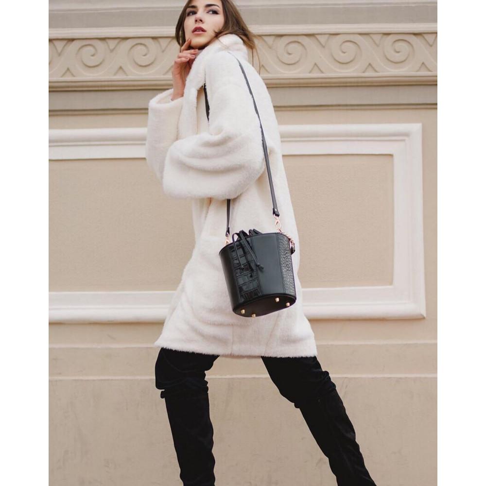 Жіноча шкіряна сумка-відро Alla KF-3326-7