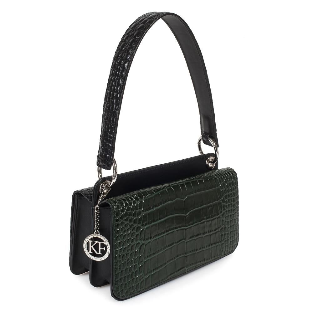 Жіноча шкіряна сумка-багет Baguette KF-3333