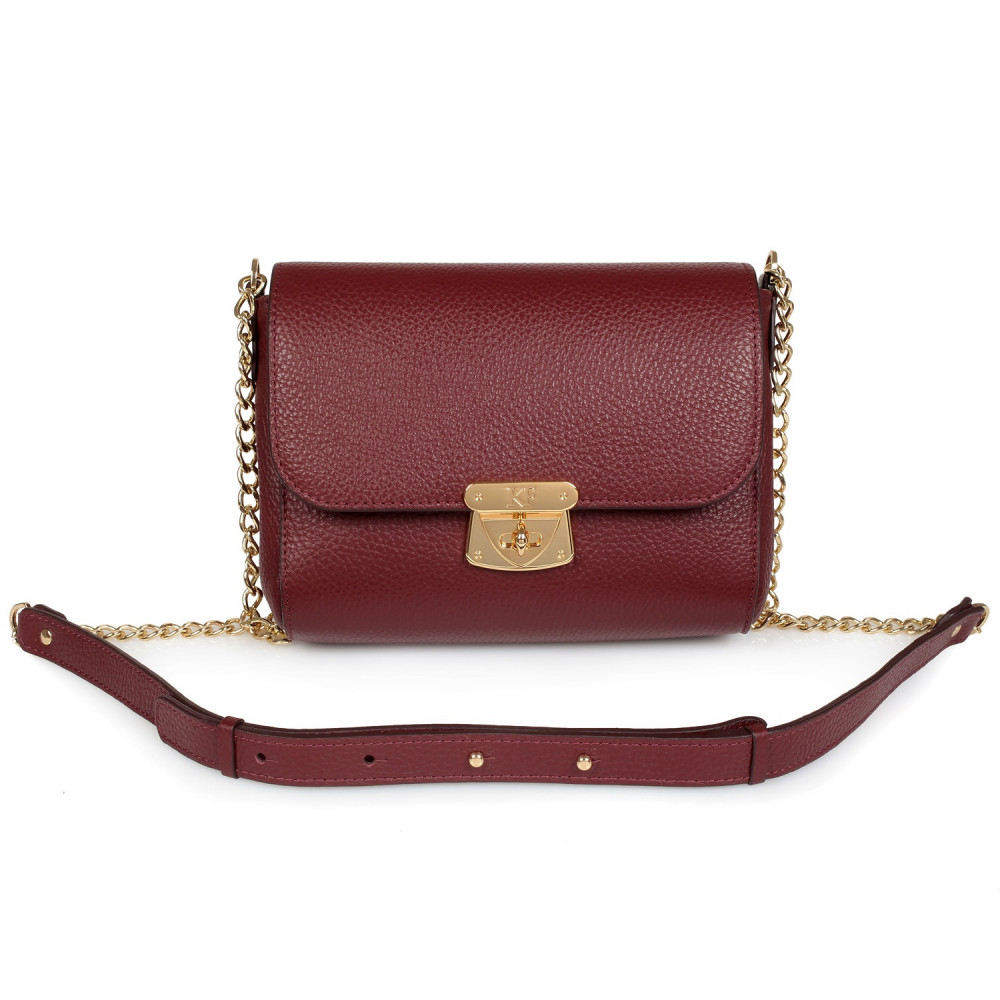 Women's leather bag  on a chain Prima S KF-334-