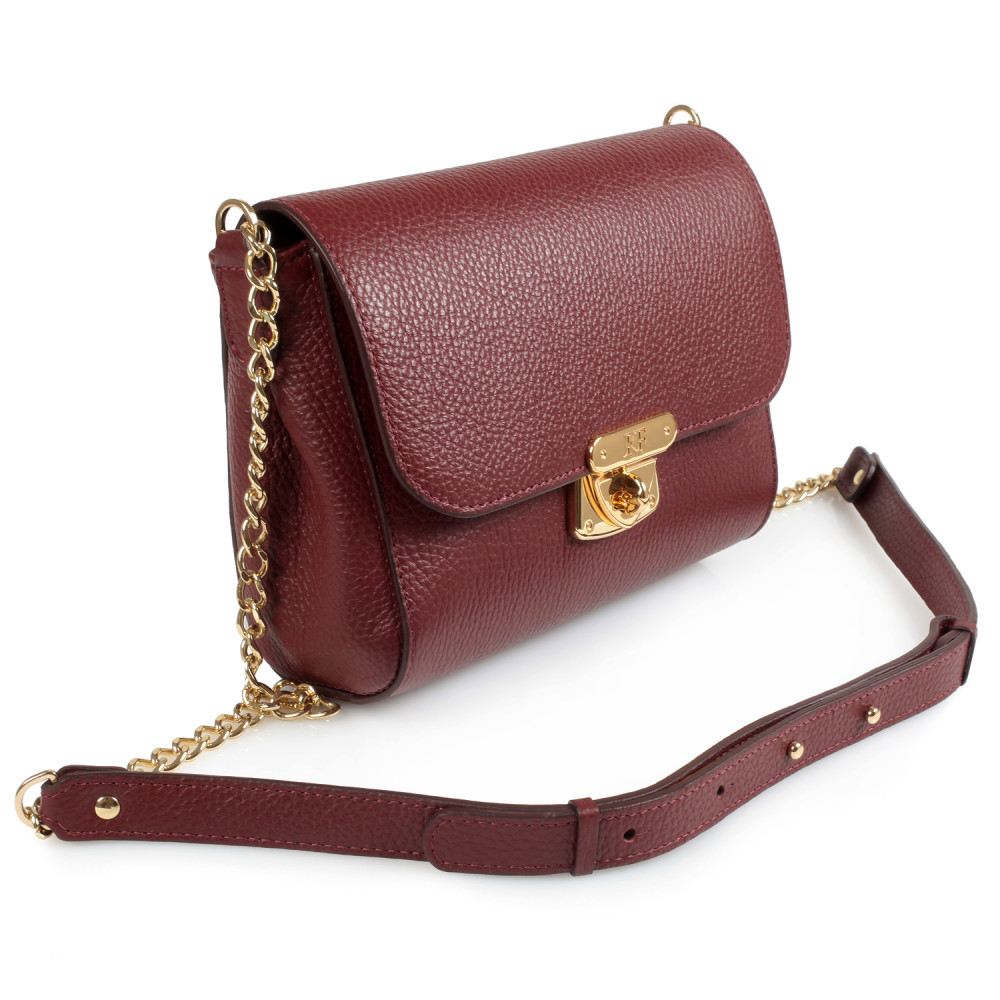 Women's leather bag  on a chain Prima S KF-334-1