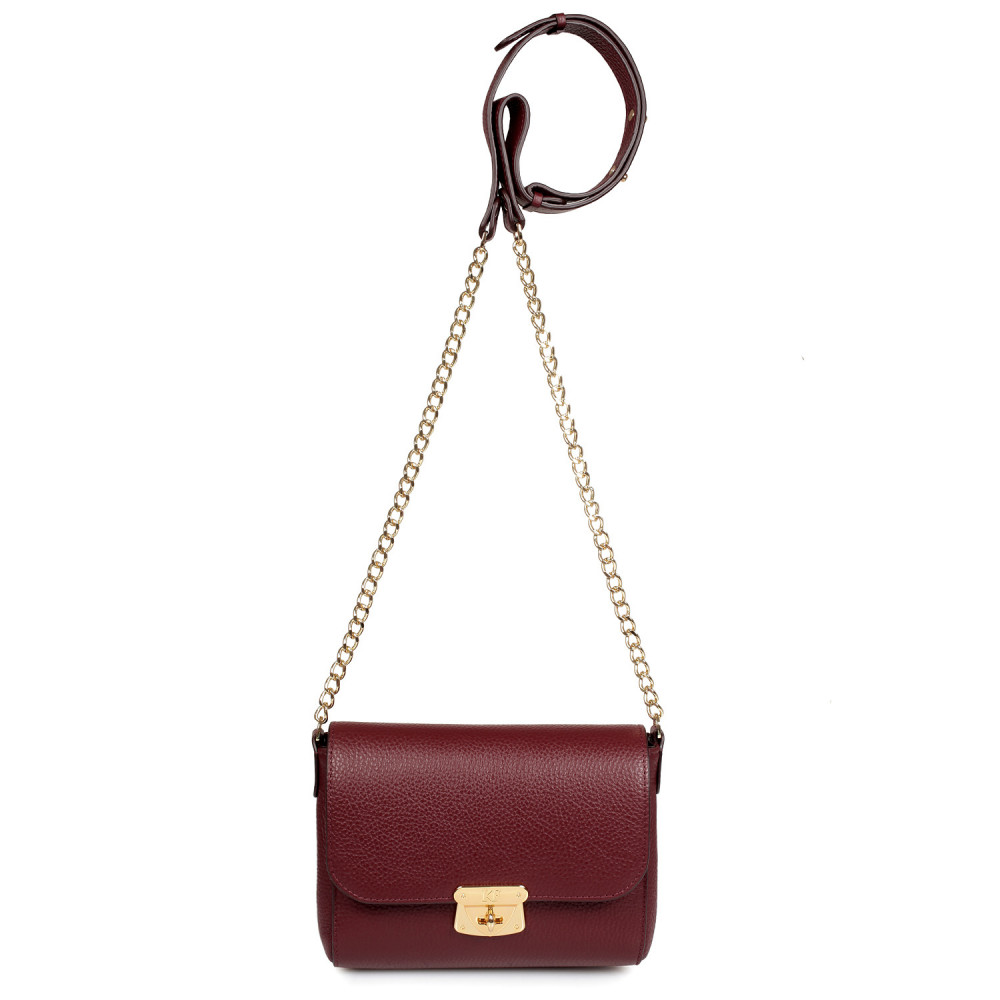 Women's leather bag  on a chain Prima S KF-334-2