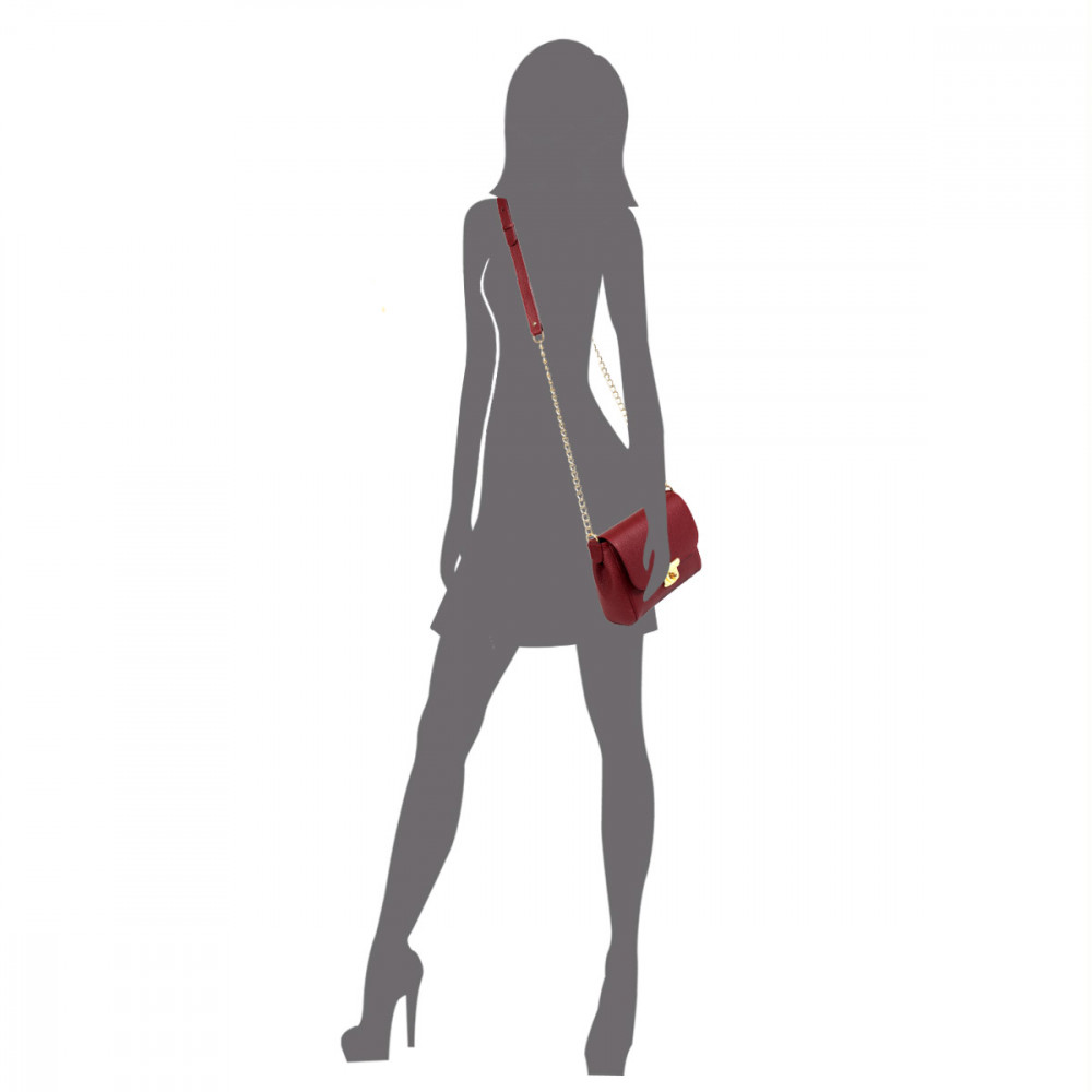 Women's leather bag  on a chain Prima S KF-334-5