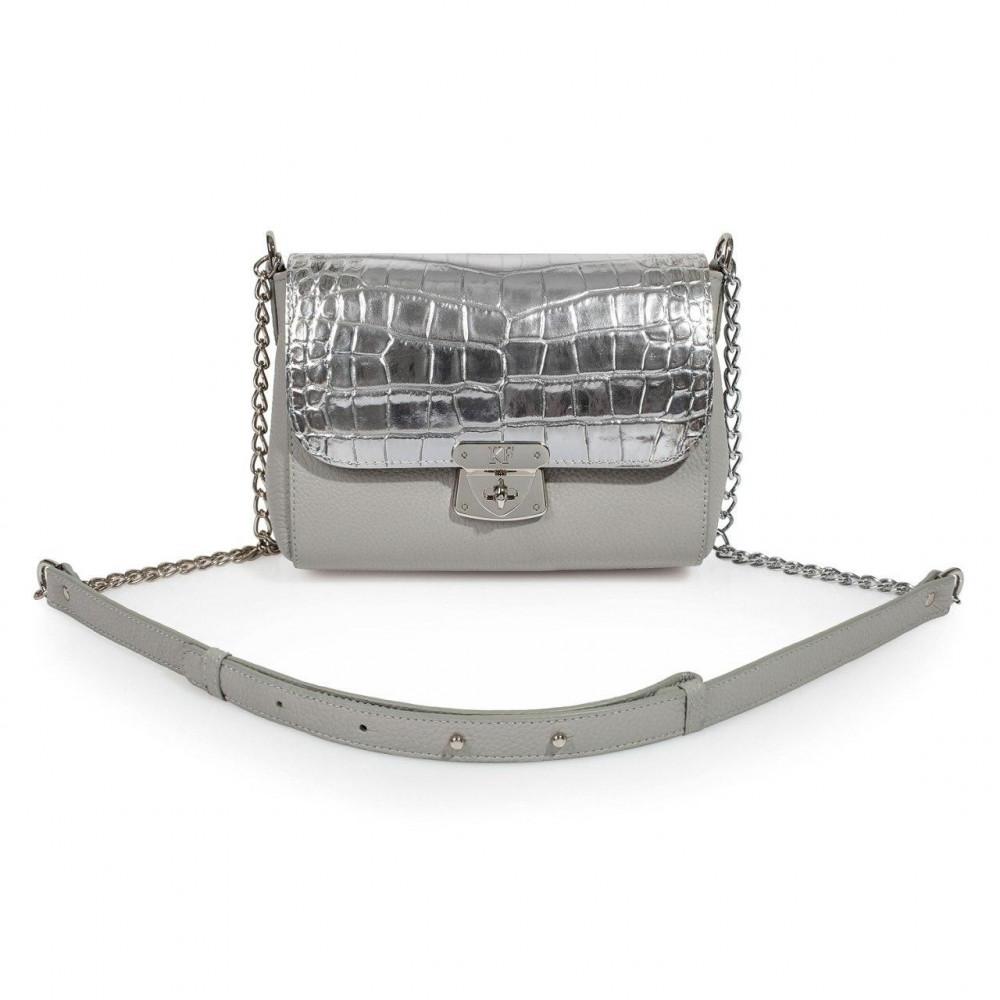 Жіноча шкіряна сумка  на ланцюжку Prima S KF-3348