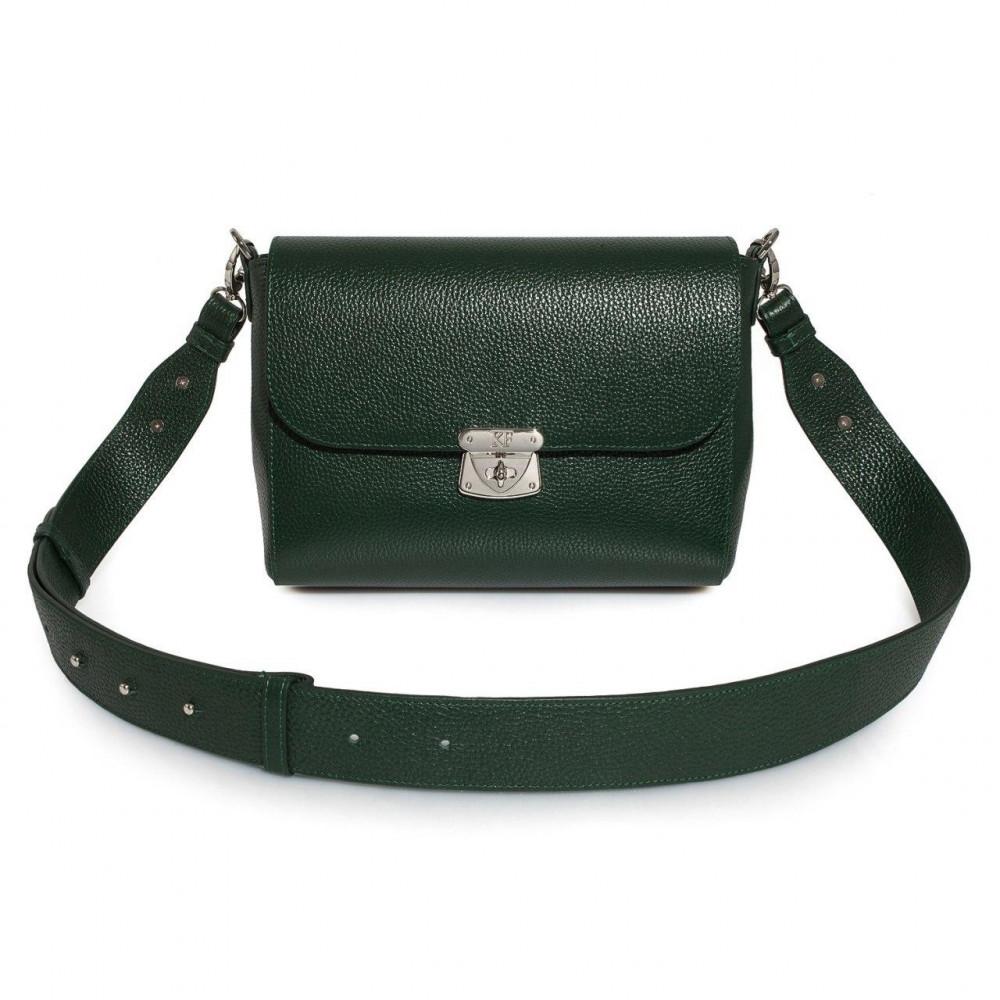 Жіноча шкіряна сумка кросс-боді на широкому ремені Prima M KF-3377